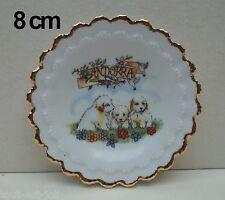 assiette en porcelaine, souvenir d'Andorre, livré avec support    **T2a