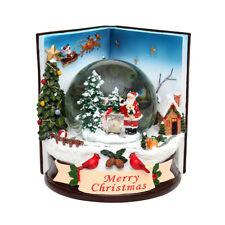 Sigro Schneekugel Merry Christmas Polyresin Farbwechsler Sound 501202