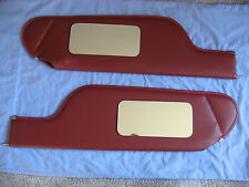 1973- 76  Impala convertible red sun visors with 2 vanity mirrors
