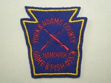 York & Adams County Hanover Game & Fish Association Keystone Shape Patch #2