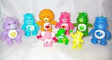 9 Vintage Care Bears Plastic PVC Action Figures Brave Heart Grumpy Racoon 1980's