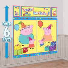 NEW Peppa Pig WALL POSTER Decoration Kit Scene Setter Birthday Party Supplies~