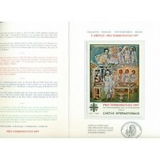 """Vatican 1997 - Mi. n. 1002/1005 Bl. 12 I - """" Folder PRO TERREMOTATI 1997"""""""