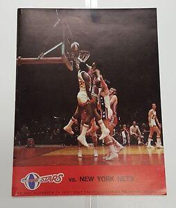 1972/73 UTAH STARS VS NY NETS PROGRAM JULIUS ERVING RICK BARRY COVER NEAR MINT