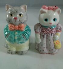 AVON Salt/Pepper Shakers..1992  COUNTRY  PURR-FECTION  COLLECTION  W/O BOX