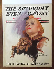 Saturday Evening Post March 13, 1937 Tom Webb Dietrich Classic Cover Magazine