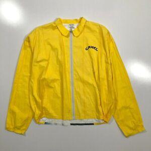 Camel Cigarette Vintage Tyvek Jacket Yellow 1992 Mens XL