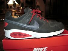 NIKE Air Max Coliseum Racer Leather 543215-006 Colors Dark Gray & Red Size 10