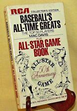 BASEBALL'S ALL TIME GREATS MAC DAVIS TOP 50 ALL STAR GAME 50TH ANNIV 1970 RCA.