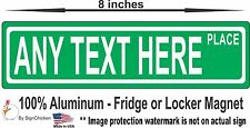 LOCKER ART & DECOR -Personalized Street Sign MAGNET, Great For School, CUSTOM