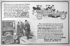 PUBLICITÉ DE PRESSE 1913 AUTOMOBILE UNIC LE ROI D'ESPAGNE AU VOLANT