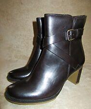 Ecco Saunter 65 Band Mittelhoch Reißverschluss Kaffee-Braun Stiefel Schuhe US 8
