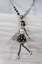 New Women Silver Metal Chains Fashion Necklace Shopping Sexy 60'S Lady Pendant
