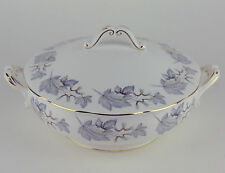 Covered Serving Bowl Tureen Royal Albert Silver Maple vintage bone china England