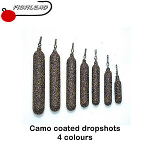 camo coated drop shot lead weights drop shotting drop shotting lrf perch course