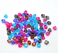 500 x MIXED COLOUR FACETED BICONE SPACER BEADS, 8mm,  SAME DAY FREE  POST