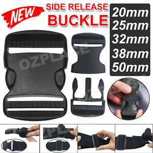 Side Quick Release BUCKLE Clip Cord Strap Fastener Webbing Plastic Backpack Bag