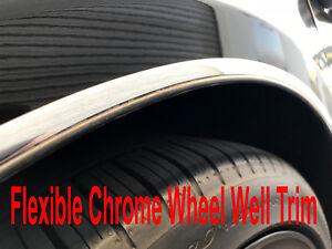 Fit 2004-2019 VOLVO Chrome L-SHAPE Wheel Well Fender Trim Molding Kit 4PCS