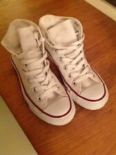 white hightop convers all stars size 4