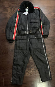 Vintage Walls Zero Zone Snow Snowmobile Ski Suit Belted Mens Size Small Red EUC