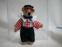 "World of Miniature Bears 2.5"" Plush Bear George #642 Collectible Miniature"