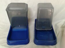 Set of Auto Feeder (3 lbs) and Waterer (3 qts) - Used