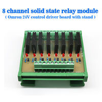 (USA) Eight Channels Solid-State Relay Module Control Panel Socket DC 24V NPN