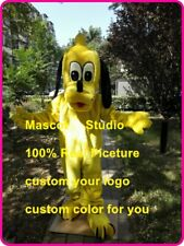 Yellow Dog Mascot Costume Suit Cosplay Party Game Dress Outfit Halloween Adult