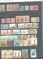 46 timbres colonies anglaises majorité Bahamas avec multiples