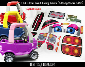 Princess Replacement Stickers fits older Little Tikes Cozy Coupe Truck With Eyes