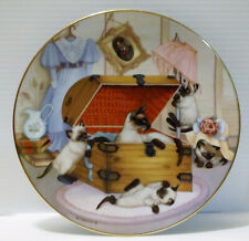 "Hamilton Collection Kittens/Cats Country Kitties ""Attic Attack""1988 #2420C"