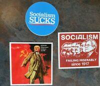 Bernie Sanders Trilogy 2020 Sticker Lot 3 Socialism CCCP Democratic Socialism