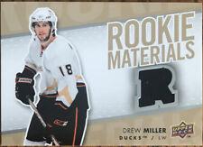 2007-08 Upper Deck Rookie Materials Drew Miller RM-DM Anaheim Ducks