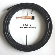 125 ft Coax Cable Low Loss Stranded Copper Center Conductor RG213U RG8/U 125'