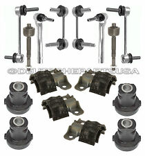 Mercedes W164 STEERING Tie Rod Rods SWAY BAR LINKS + Rack Mount Bushings SET 16