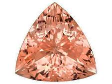 2.24cts Superb Luster Untreat Peach Pink Morganite Trillion Loose Gemstone