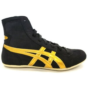 ASICS Wrestling Boxing Shoes EX-EO TWR900 Black/Gold With Tracking FedEx
