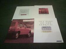 1987 / 1988 FIAT UNO 60 DS DIESEL - 4 part UK BROCHURE