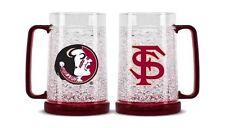 Florida State Seminoles Official Crystal Freezer 16oz Mug- (NEW) (SET OF TWO)