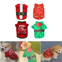 Pet Dog Puppy T-Shirt Christmas Clothes Costumes Coat Vest Xmas Apparel Sweater