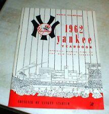 Beautiful ORIGINAL 1962 New York Yankees Stadium World Championship YEARBOOK
