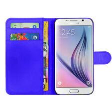 Teléfono de cuero PU estilo Billetera Abatible Estuche Cubierta para Samsung Galaxy S4 S5 S 7 Edge S8 A3 A5
