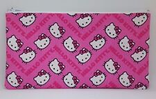 Pink Hello Kitty Chevron Fabric Handmade Pencil Case Make Up Bag Storage Pouch