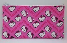 Pink Hello Kitty Chevron Fabric Handmade Pencil Case Make Up Bag Storage Pouch