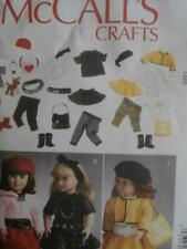 """McCall's Sewing Pattern M6669 18"""" Girl Doll Clothes American"""