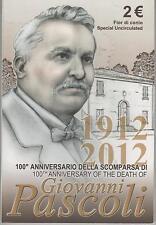 2 Euro commémorative de Italie 2012 Brillant Universel (BU) - Giovanni Pascoli