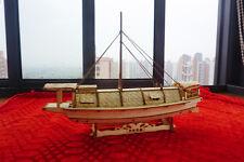Wooden china sail boat song dynasty inland river cargo ship