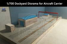 1/700 Dockyard Shipyard Diorama for Aircraft Carrier with Crane and Buildings