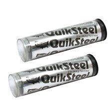 2 x Blue Magic Quiksteel Steel Metal Instant Repair Epoxy Putty Weld Filler 2oz