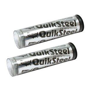 2 x Cargo Quiksteel Quicksteel Steel Reinforced Epoxy Putty Metal Repair Weld